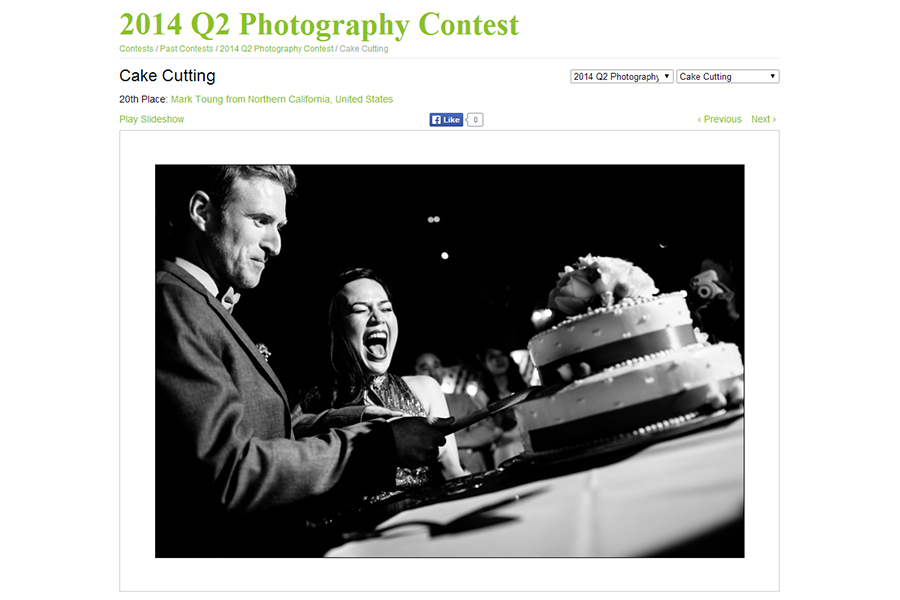 San Francisco wedding photographer wpja award