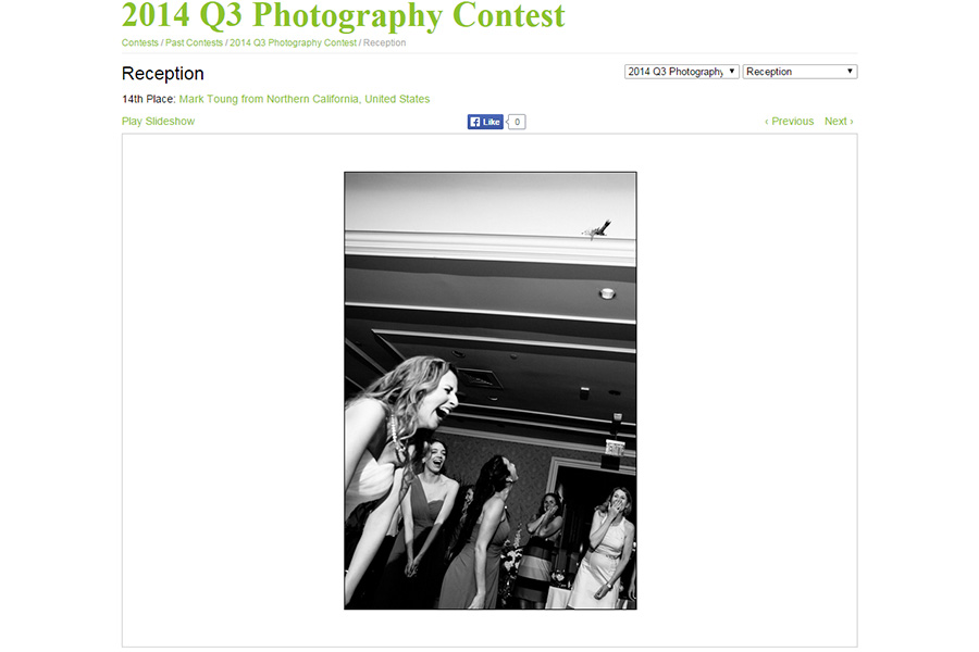 Latest San Francisco wedding photographer wpja award