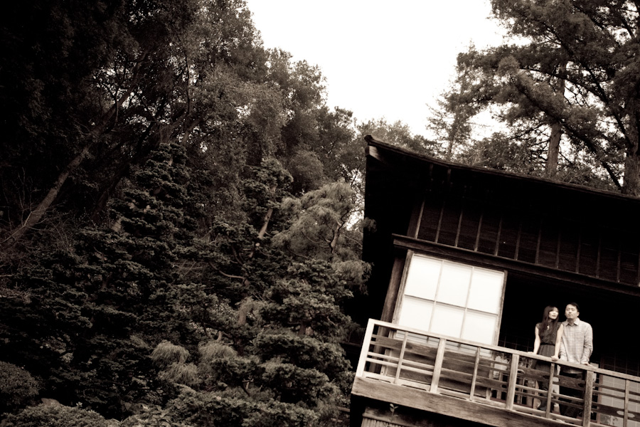 Hakone Garden Engagement | Melissa & John