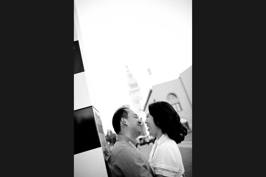 San Francisco Ferry Building Engagement Photographer | Marina & Shing