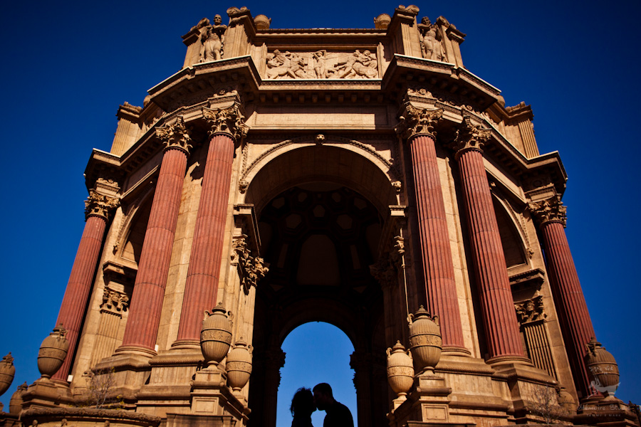 Palace of Fine Arts Engagement Photos | Joline