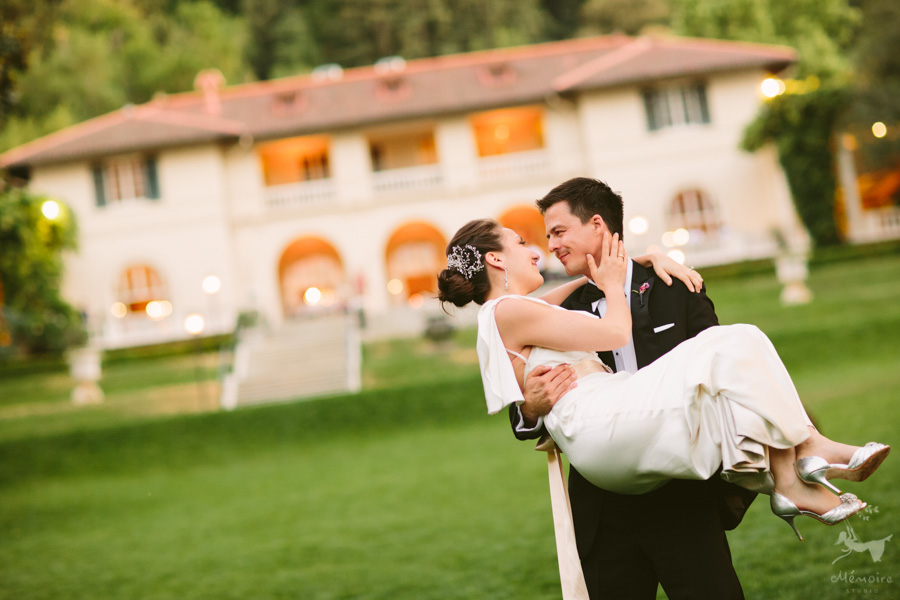 Villa Montalvo Wedding Photos of Jane + Chetan