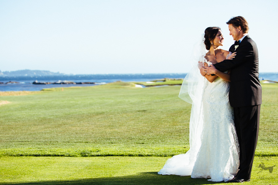 Pebble Beach Golf Resorts wedding photographer M + C