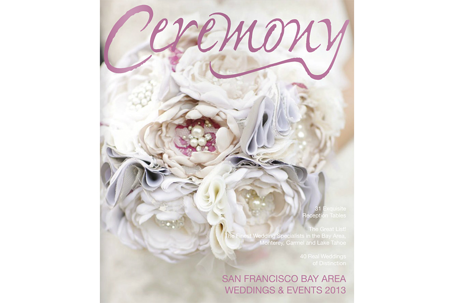 San Francisco Wedding photographer Published Ceremony Magazine cover