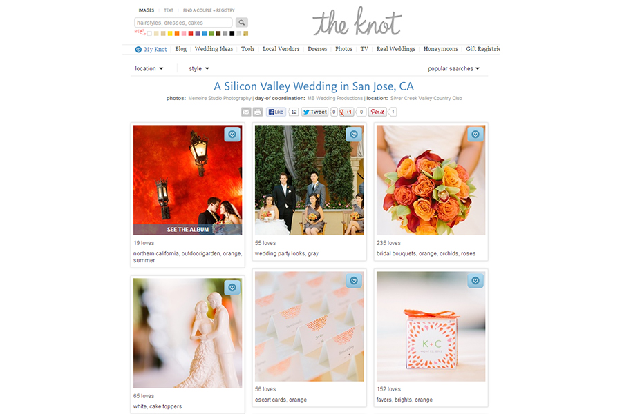 San Francisco wedding photographer published on The Knot