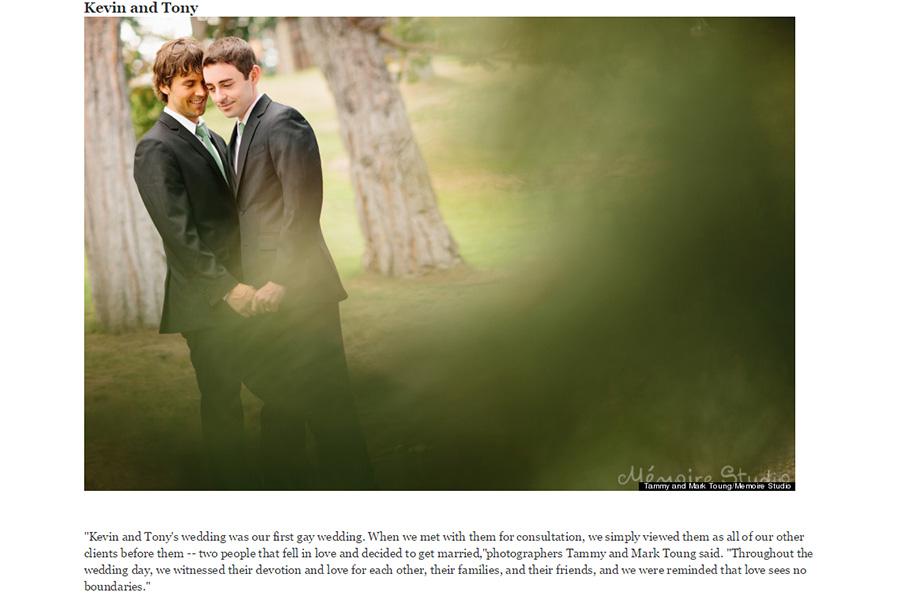 San Francisco gay wedding photographer featured on Huffington Post