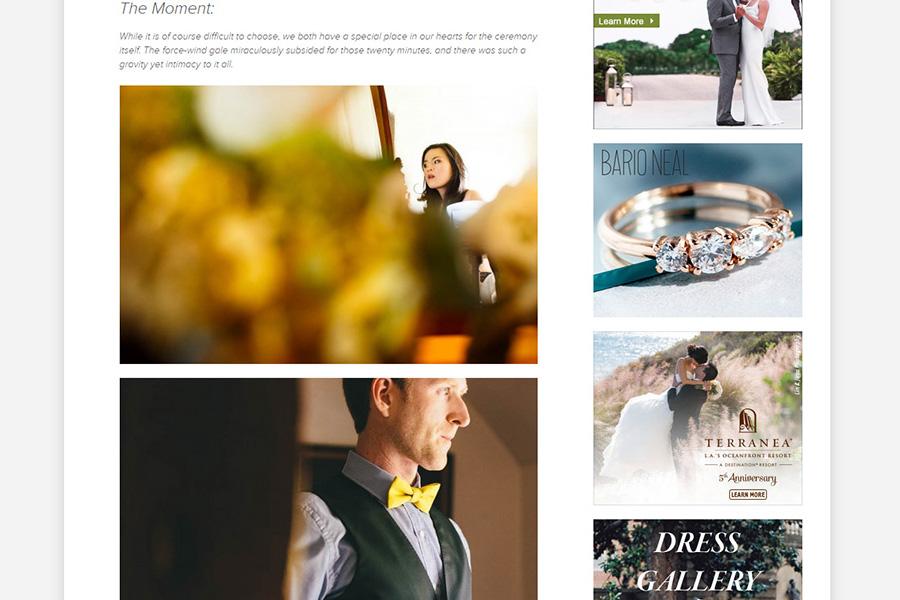San Francisco gay wedding photographer featured on Junebug Weddings